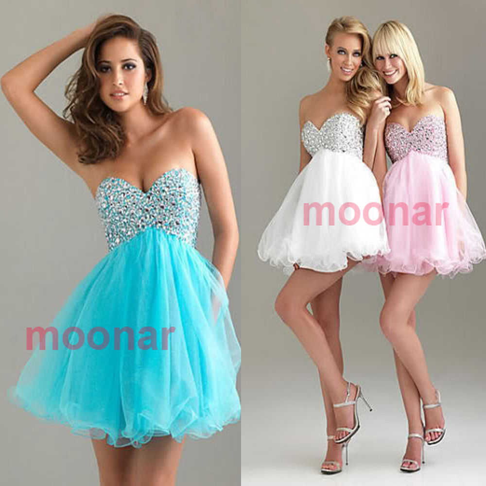 Short Dress Sexy Prom Gowns Wedding Bridesmaid Evening Ball Party ...