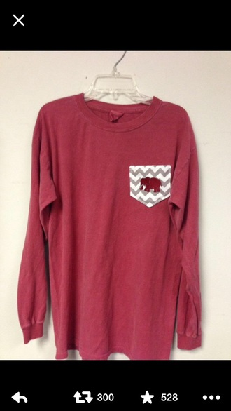shirt burgundy elephant longsleeve shirt