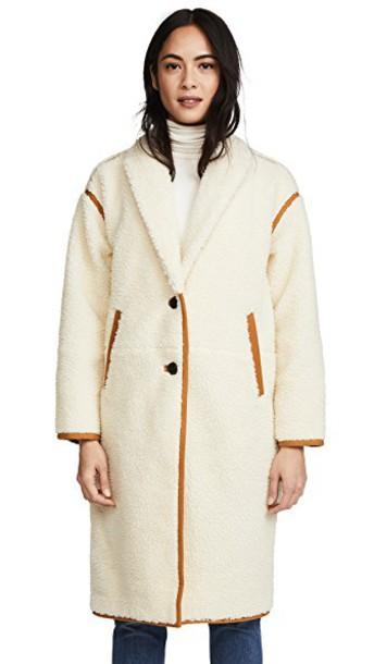 Madewell coat cozy cream