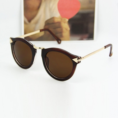 Western Style Round Printed Frame Anti UV Best Sunglasses