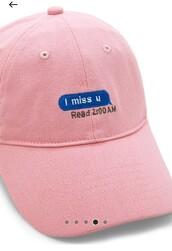 hat,cap,pink