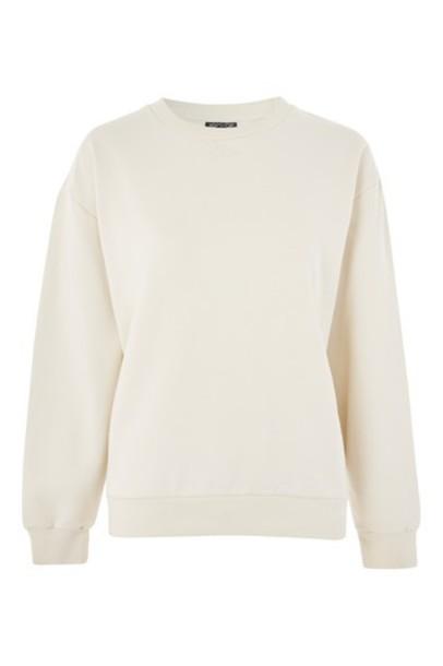 Topshop sweatshirt oversized grey sweater