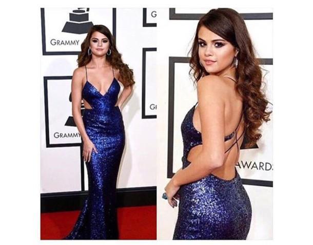 dress selena gomez blue blue dress sparkly dress