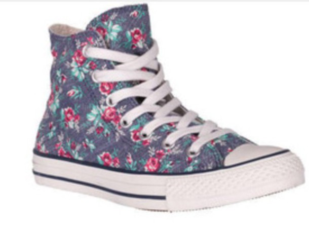 shoes converse flowered flowers pastel girls sneakers girl c78f2f4d4f4d