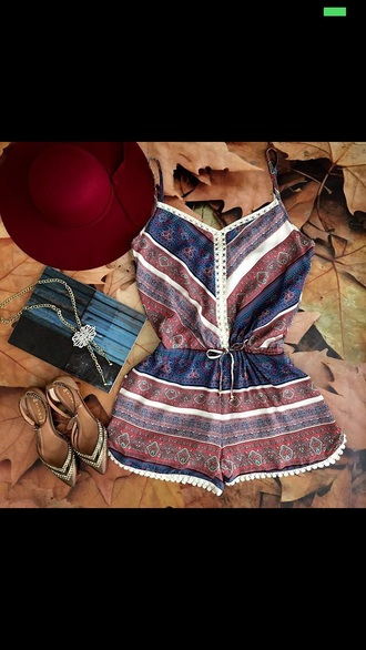jumpsuit brown short