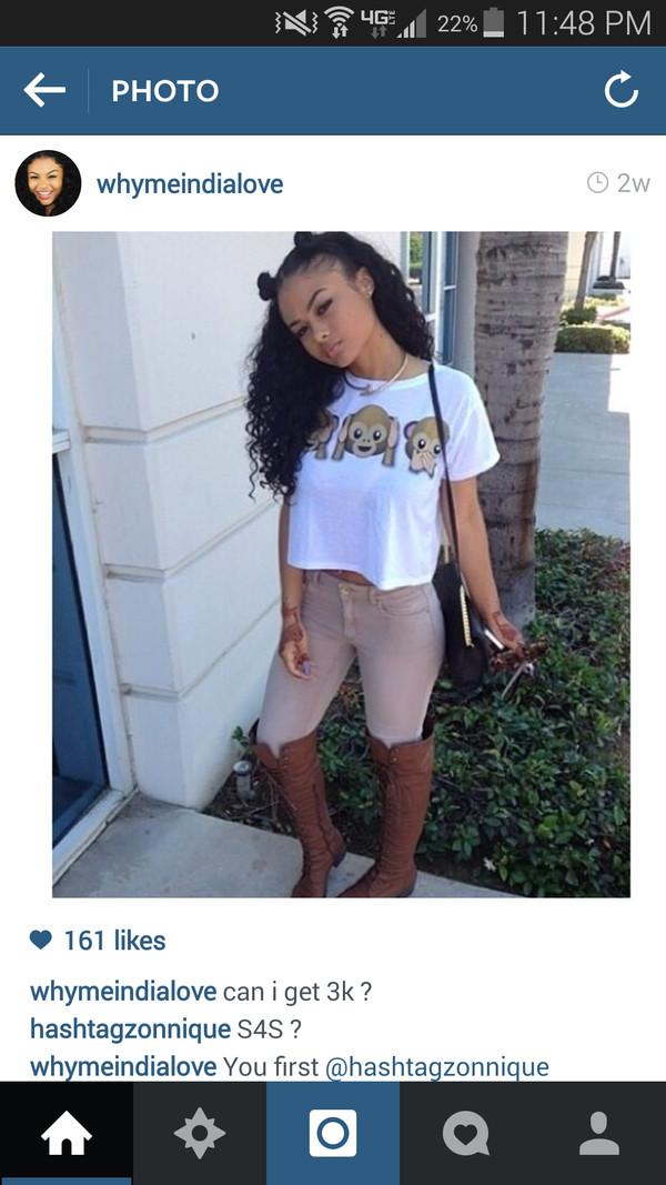 india westbrooks crystal westbrooks westbrooks emoji print breckelle leggings shoes shirt jeans