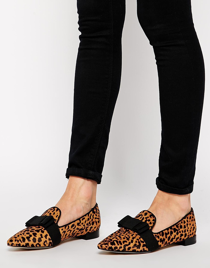 Senso Freja IV Leopard Print Flat Pointed Shoes at asos.com