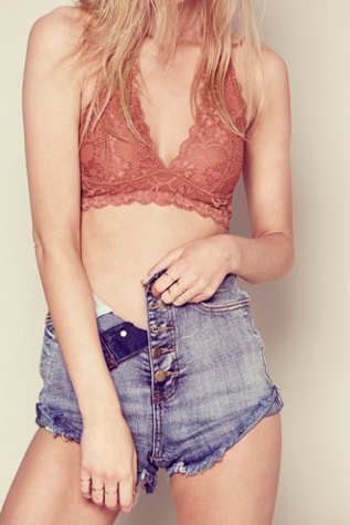intimately free people womens galloon lace halter bra