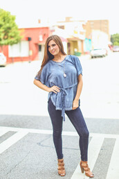 top,casual,boho,indie,fall outfits,tunic,tunic top,bow,blue,navy,transitional