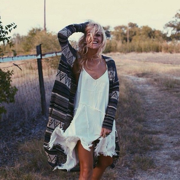 dress white dress cardigan
