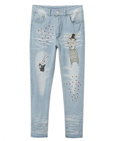 Denim cartoon pencil jeans