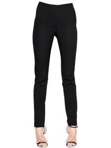 Pantaloni slim fit in techno cady