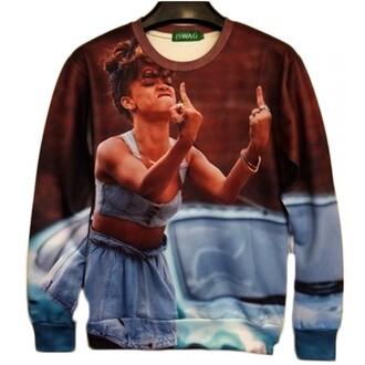 rihanna 3d rihanna sweatshirt rihanna sweatshirt 3d 3d print sweatshirt