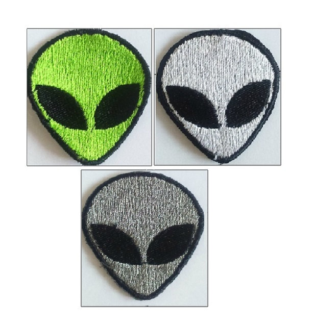 Retro Alien Patch, Embroidered Alien, Iron on Alien or Sew ...