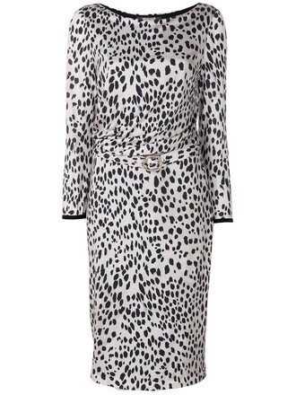 dress print dress leopard print dress women print black silk wool leopard print