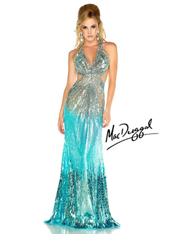 Ombre Sequin Prom Dress