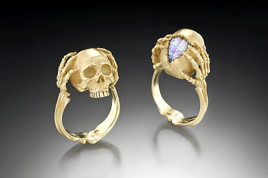 Memento Mori - Tribute to a Genius: Kim Eric Lilot: Gold & Stone Ring | Artful Home