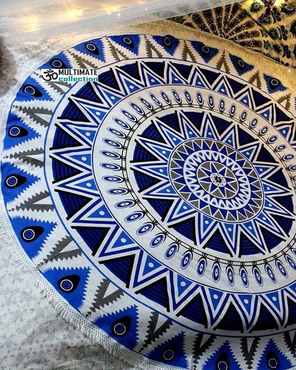 home accessory beach roundie wall deocr throw roundie multimatecollection indian tapestry round beach blanket bedding