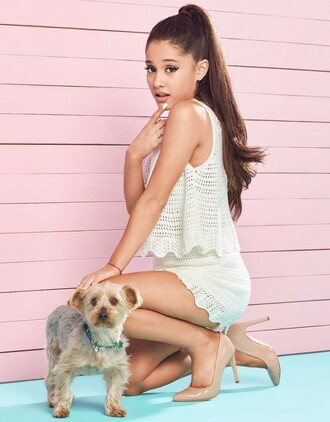 shorts top knitwear summer summer outfits ariana grande