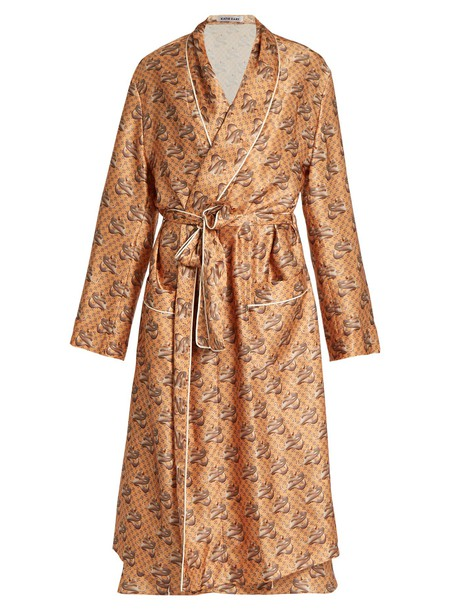 katie eary gown snake print silk satin beige dress