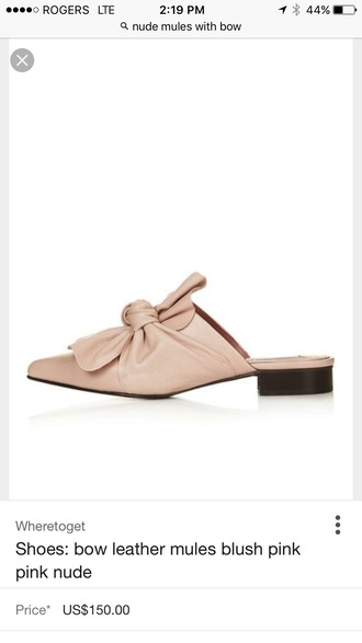 shoes nude mules