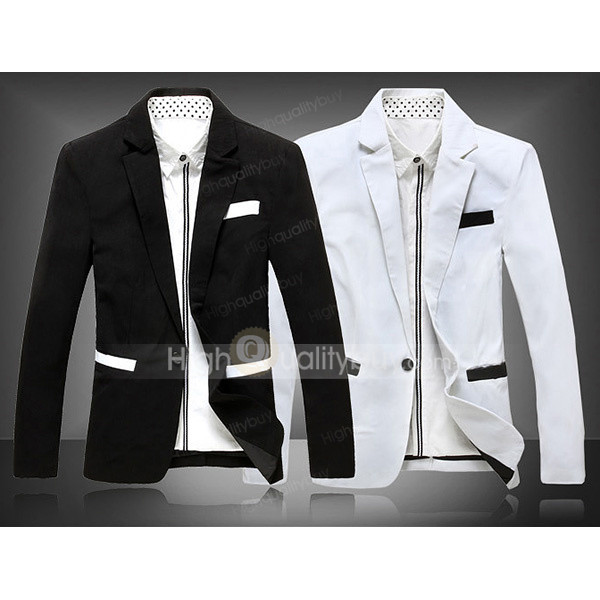 coat handsome long black and white stylish occasion working free shipping 2015 jobs