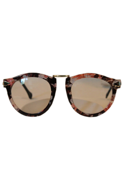 ROMWE | Floral Printed Frames Sunglasses, The Latest Street Fashion