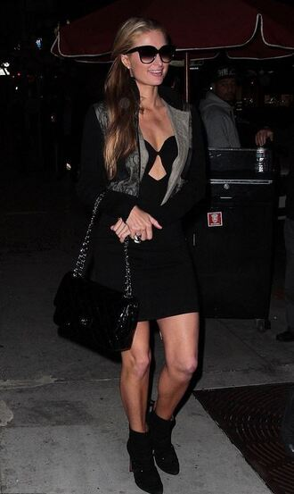 dress paris hilton black