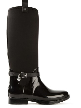 women boots black neoprene shoes