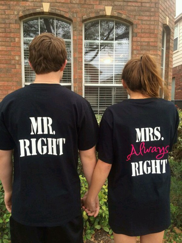 Mrs Always Right Collection Review: Mr Right Mrs Always Right Couple Shirts, Matching Couples