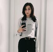 shirt,amy nelson,markiplier,cotton,champion,minimalist,sweater,grey,graphic tee
