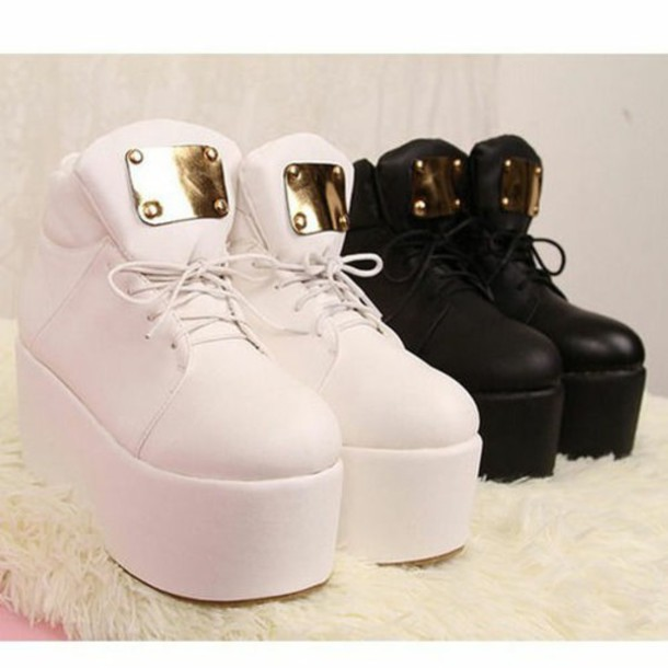 shoes platform shoes white sneakers black sneakers