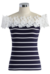 top,chicwish,summer top,stripe top,lady top,chicwish.com,lady t-shirt