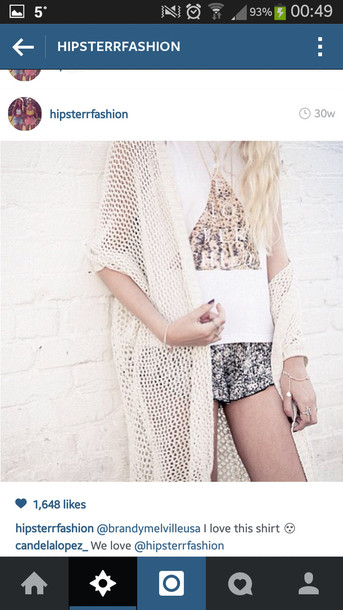 jacket knitted cardigan shirt shorts floral