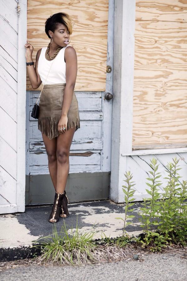 skirt fringe skirt