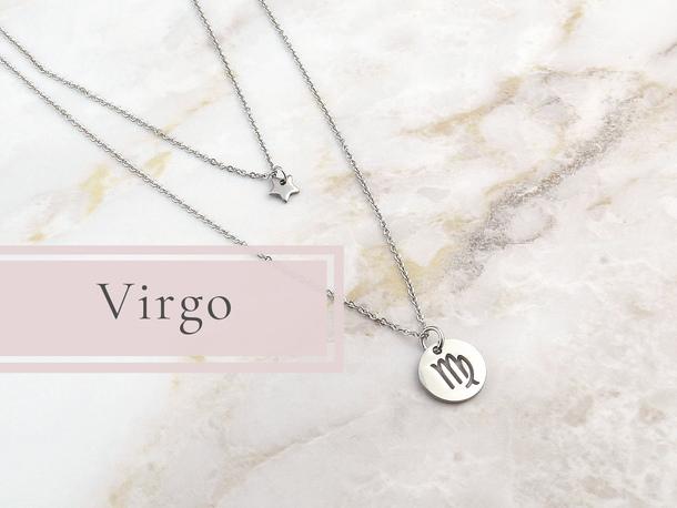 e296c51e301f3 scarf virgo necklace zodiac signs zodiac jewelry handmade jewelry etsy  lunar tribe jewelry witchy delicate necklace