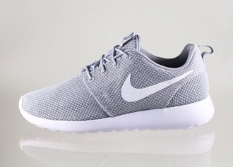 shoes nike roshe run grey nike wolfgrey