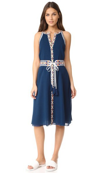 Tory Burch Savannah Dress in navy