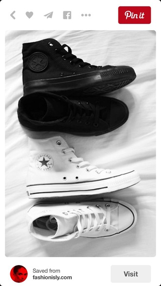 shoes white black trim converse