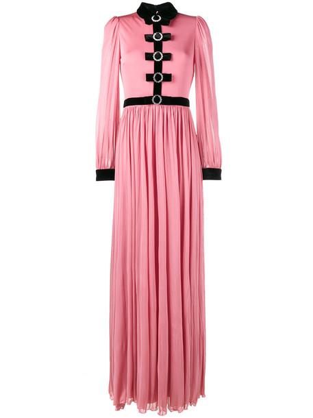 dress evening dress bow women silk velvet purple pink