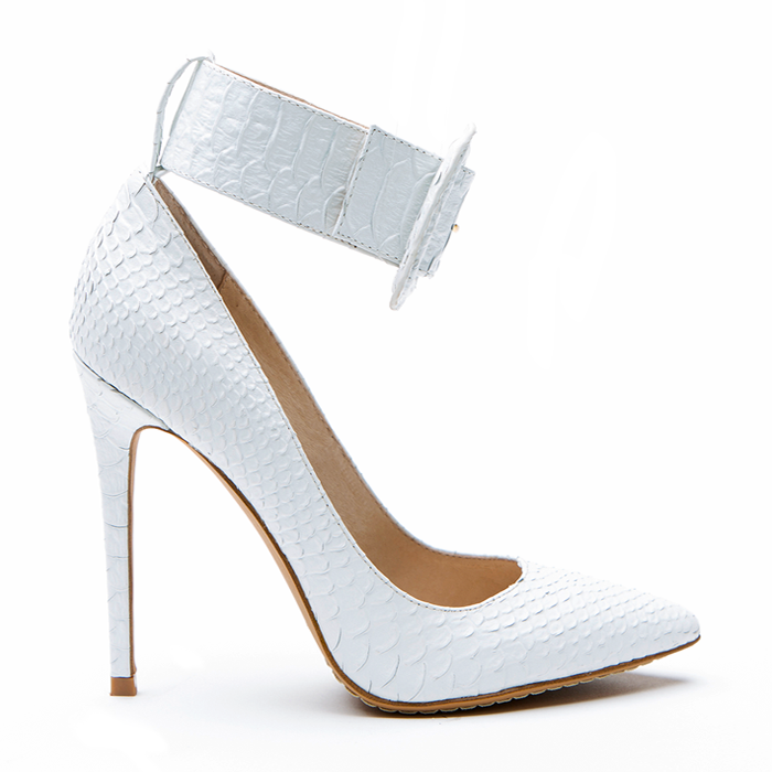 ZigiNY PAULINE Pump in White Snake Leather – FLYJANE