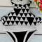 Geometric print halter bikini set