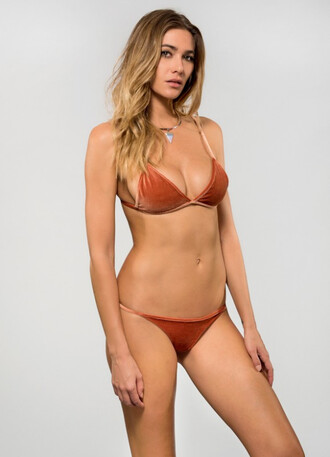 top dbrie swim bikini top orange triangle bikiniluxe
