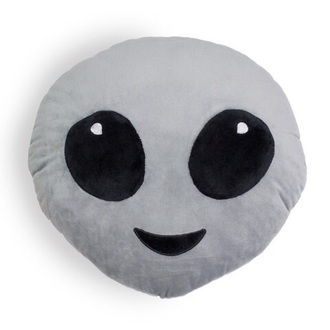 home accessory alien emoji pillow pillow emoji print