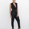 Camrie layered dress black pant at flyjane
