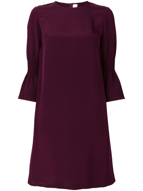 Goat dress shift dress women silk purple pink