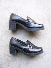shoes,penny loafer,loafers,90s style,grunge,1990,vintage,etsy,mudd