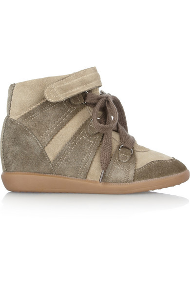 Isabel Marant|Bluebel suede concealed wedge sneakers|NET-A-PORTER.COM
