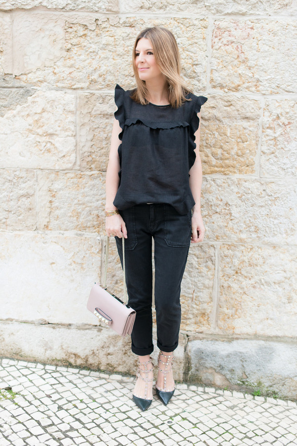 the working girl bag t-shirt pants jacket shoes jewels