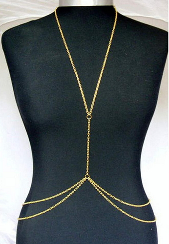 Bikini necklace body chain